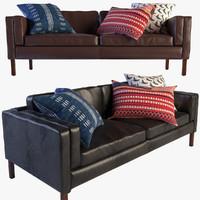 3d austin set leather sofa armchair