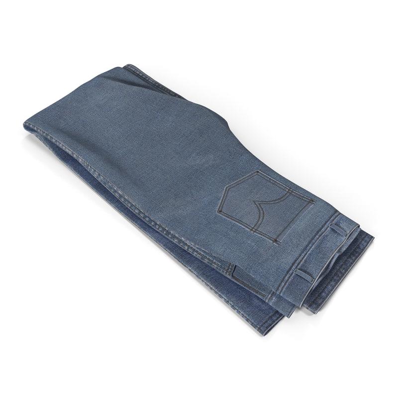 Folded Jeans 3d model 02.jpg