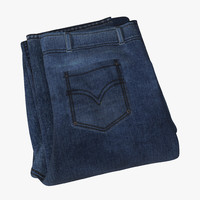 jeans folded 2 3d 3ds