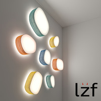 3d model of luzifer lamps ceiling wall