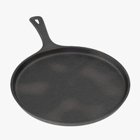3d cast iron griddle