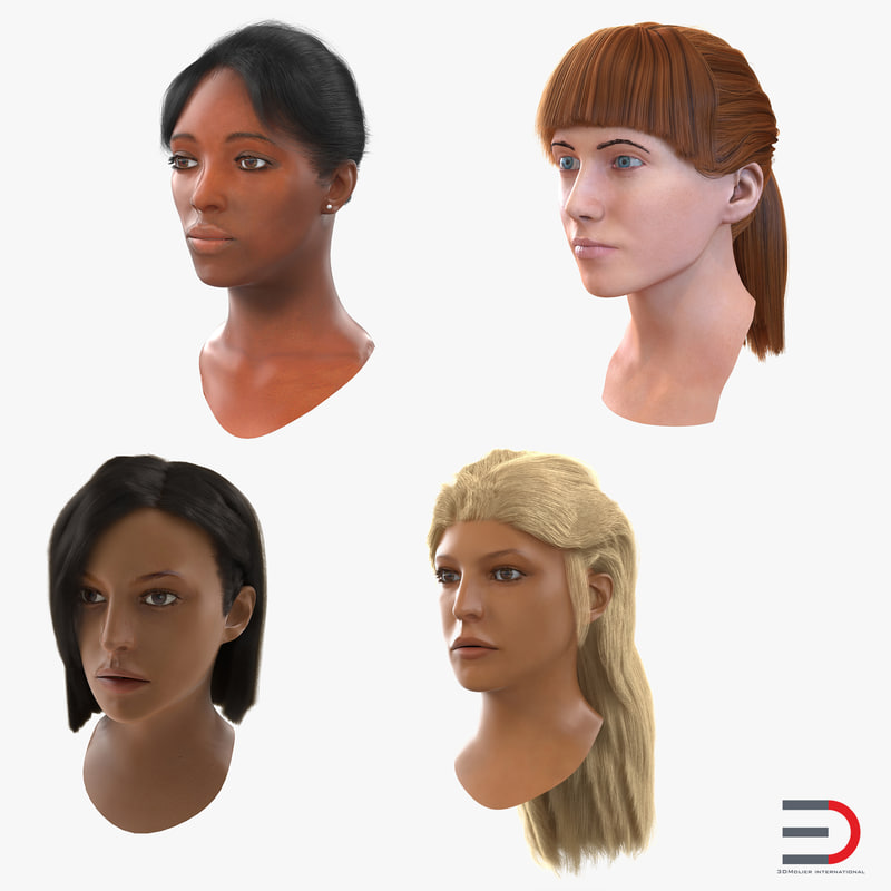 Female Heads Collection 3d models 01.jpg