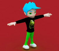 poquito character 3d model