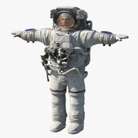 3d model astronaut cosmonaut human