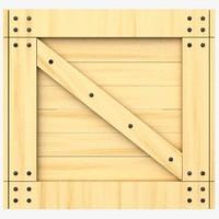 lwo wooden crate