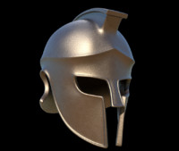 corinthian greek helmet 3d model