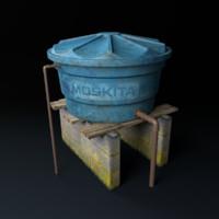 3ds moskita v 2 water tank