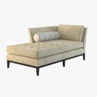 vanguard chaise 3d max