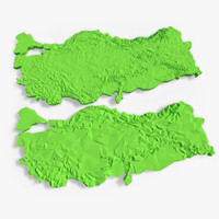 3d model of turkey terrain