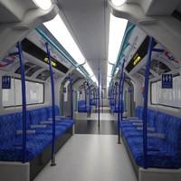 london metro train 3d ma