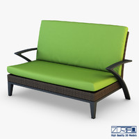 3d model rexus sofa brown