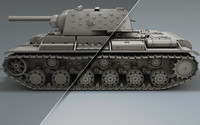 soviet tank 3d c4d