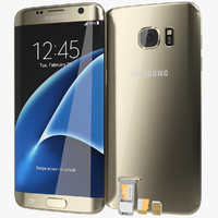 Samsung Galaxy S7 Edge Gold Platinum with SD/SIM Card Tray
