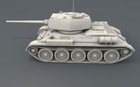 3d ussr tank t-34 85
