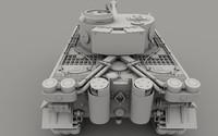 german tank 3d c4d