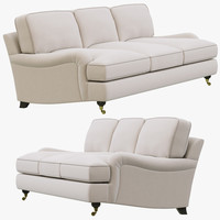 Restoration Hardware English Roll Arm Upholstered Sofa
