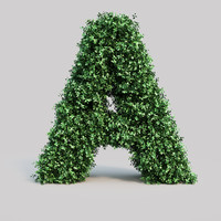 alphabet buxus 3d model