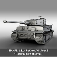 3d model sd - tiger production