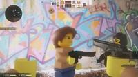 3d lego man terrorist model