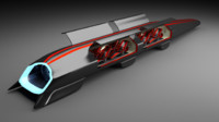 3d hyperloop hyper loop model