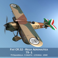 Fiat CR.32 - Italy Airforce - 79 Squadriglia