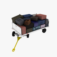 3d model clyde 15f2900 baggage cart