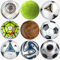 3d modeled soccer balls model