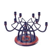 candleholder angled shapes 3d obj