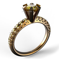 3d model solitaire ring 0 5ct