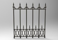 3d model victorian fence