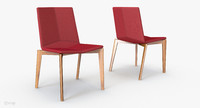 davis rhombus armless chair 3d model