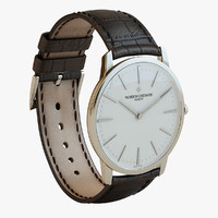 Patrimony - Gold Brown Watch Closed