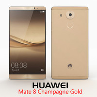 3d huawei mate 8 champagne