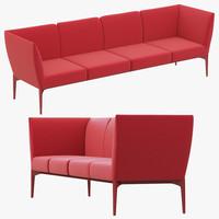 3d pedrali social sofa model