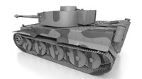 3d german ww2 tiger tank model