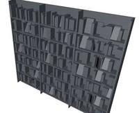 3d model book bookcase