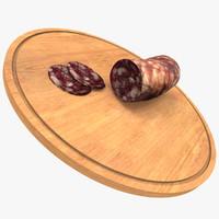 sausage salami 3d model