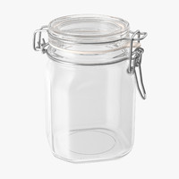 hinged glass jar 02 c4d