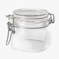 3d model hinged glass jar 03
