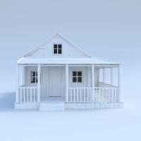 3d house wood model