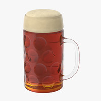 bavarian beer mug 3d model