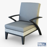 rexus armchair white 3d model