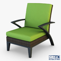 rexus armchair brown 3d model