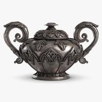 rich decorated vase 3d model