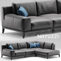 3d model of modular sofa natuzzi