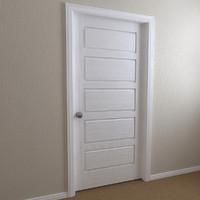 interior door - 5-panel c4d