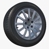 3d model audi wheel tyre