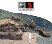 3d model el golfo volcanic beach