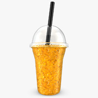 3d realistic fruit shake passion model