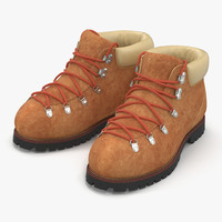 3d model hiking boots 3